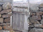 gate -- stone and wood