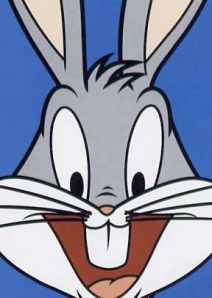 Bugs-bunny is smiling because of his cheap seat